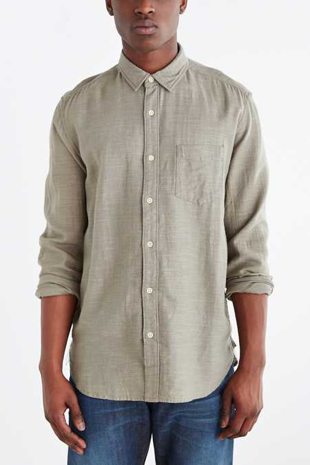 Koto Long-Sleeve Slub Desert Button-Down Shirt