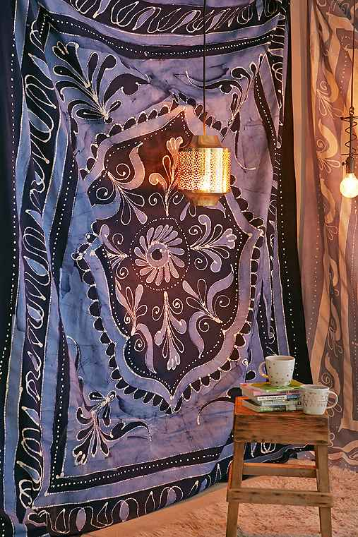 4040 Locust Blue Batik Tapestry,NOVELTY,ONE SIZE