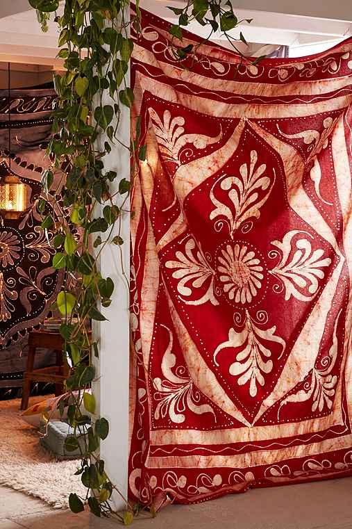 4040 Locust Rust Batik Tapestry,RUST,ONE SIZE