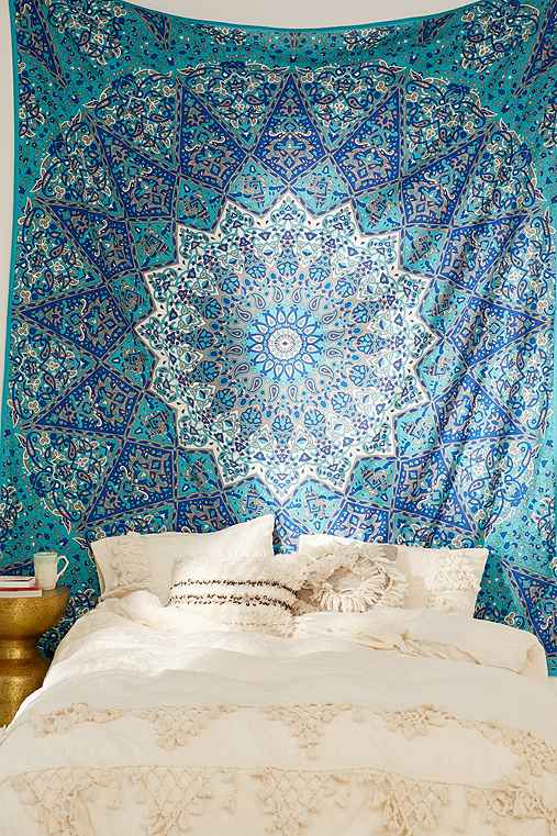 Magical Thinking Danie Medallion Tapestry,TURQUOISE,ONE SIZE