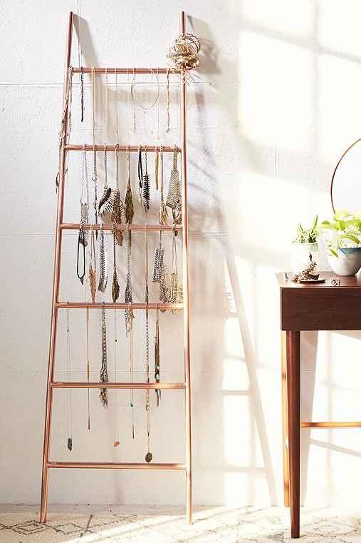Decorative Metal Ladder,BRONZE,ONE SIZE
