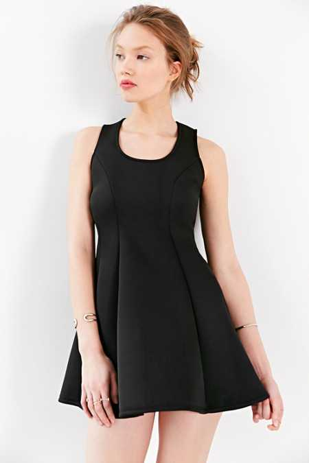 Silence + Noise Scuba Seamed Fit + Flare Dress