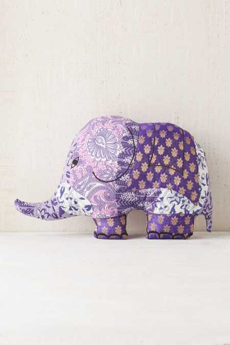 Magical Thinking Sari Elephant Pillow