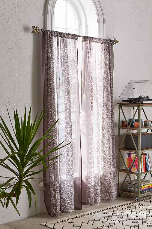 4040 Locust Bali ZigZag Curtain,DARK GREY,52X96
