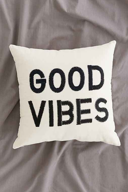 Magical Thinking Good Vibes Pillow,BLACK,ONE SIZE