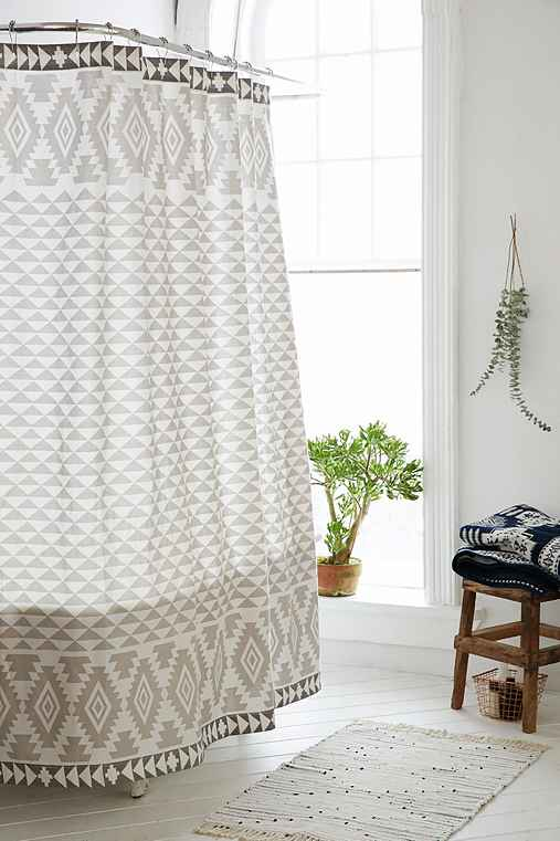 4040 Locust Pyramid Geo Shower Curtain,GREY,72X72