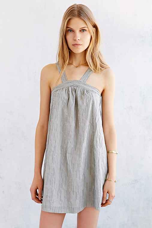 Cooperative Railroad Stripe Trapeze Dress