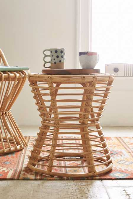 Magical Thinking Luna Rattan Side Table
