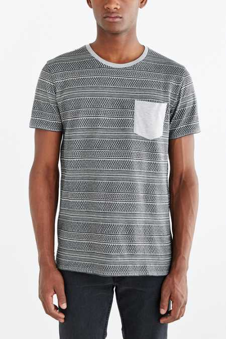 BDG Standard-Fit Jacquard Stripe Pocket Tee