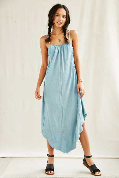 Urban Renewal Remade Crinkled Maxi Dress