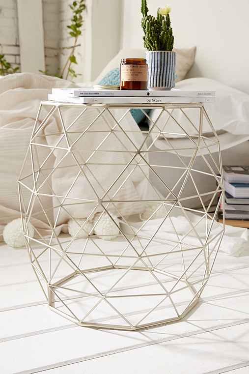 Geometric metal side table urban outfitters for Table design using jsp