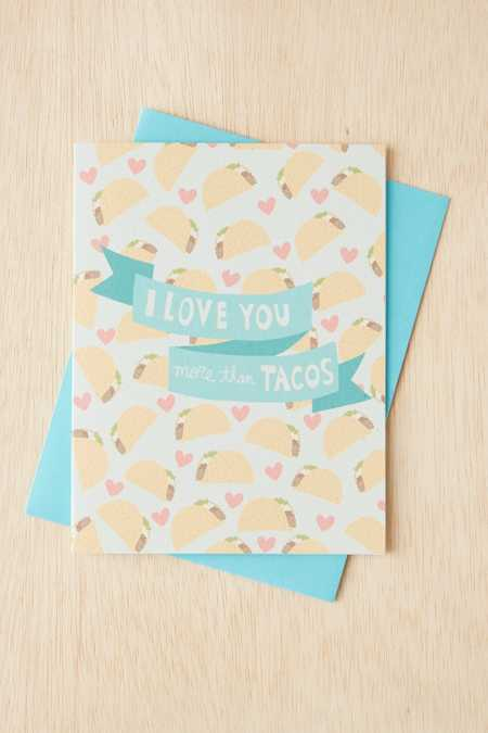 Turtle's Soup Love Tacos Card