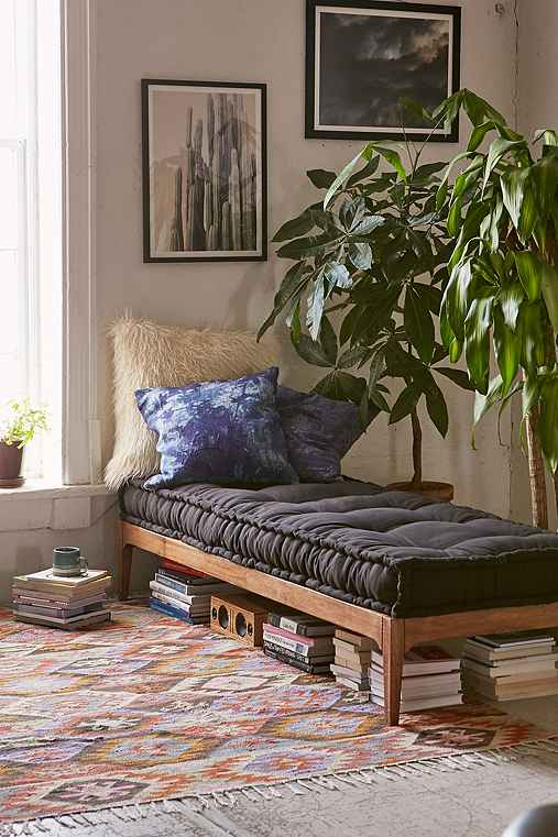 Rohini daybed cushion urban outfitters for Bohemian style daybed