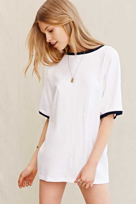 Urban Renewal Vintage Oversized Ringer T-Shirt Dress