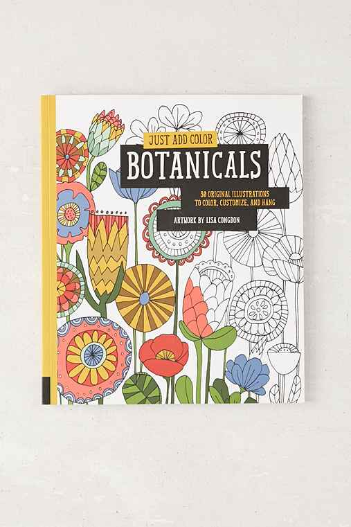 Just Add Color Botanicals 30 Original Illustrations To