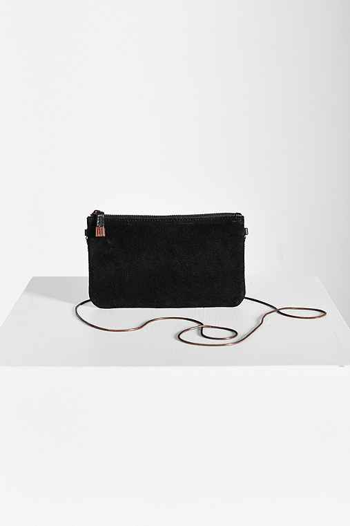 Silence + Noise Leather Wristlet,BLACK,ONE SIZE