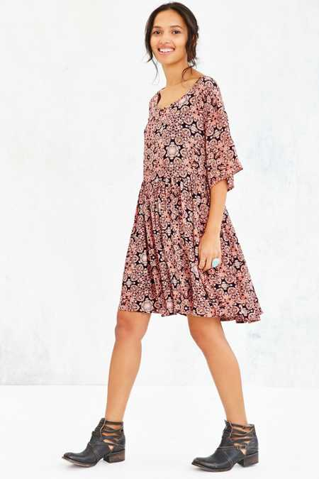 Ecote Printed Drippy Tee Dress