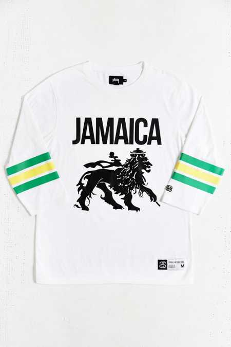Stussy Jamaica 3/4-Sleeve Football Jersey