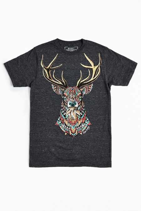 Riot Society Ornate Buck Tee