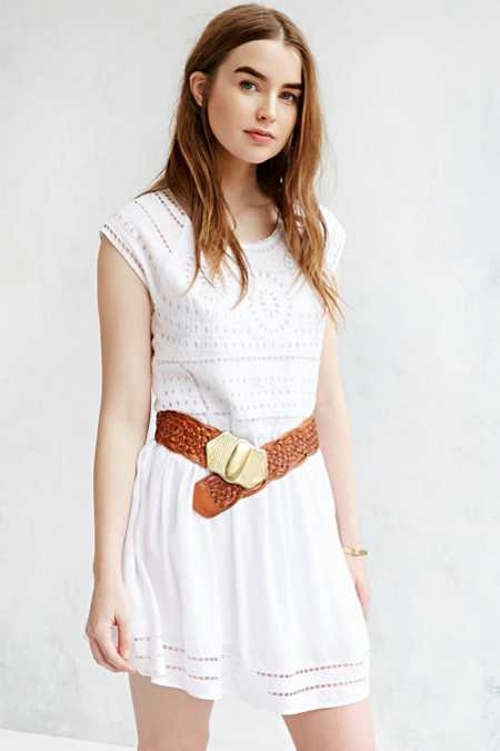 Ecote Wide Braid Belt