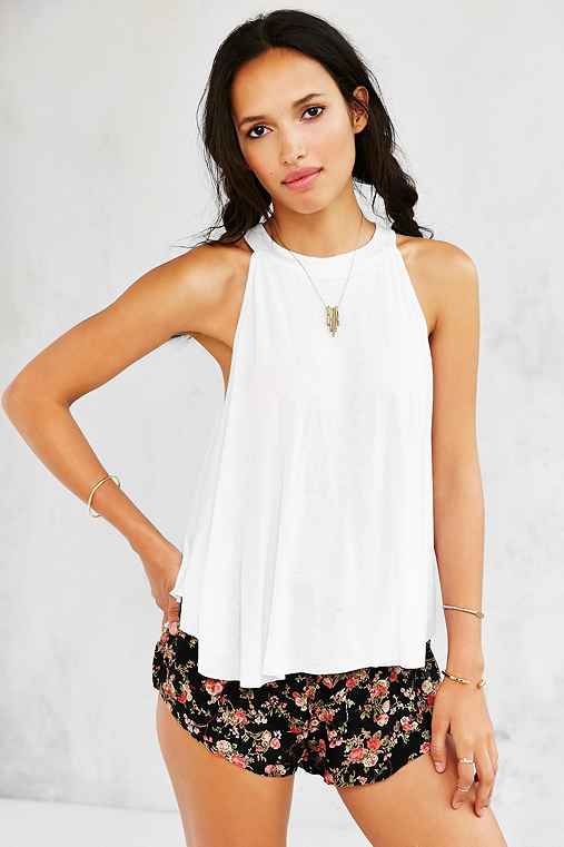 Kimchi Blue Florence Tank Top,WHITE,S