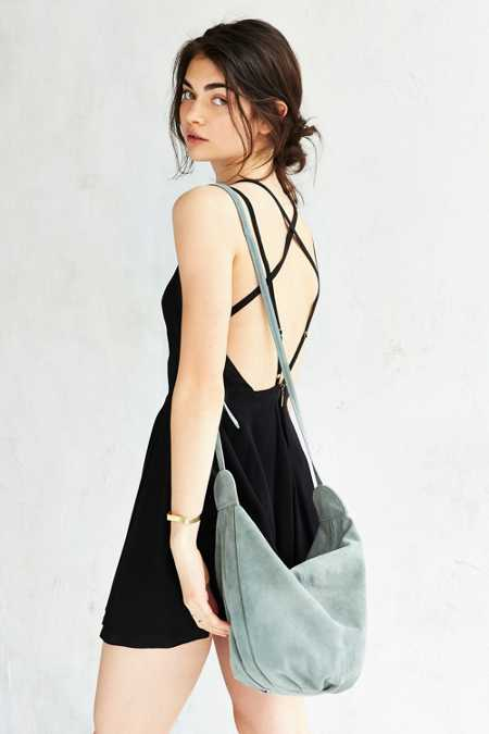 Ecote Knotted Suede Shoulder Bag