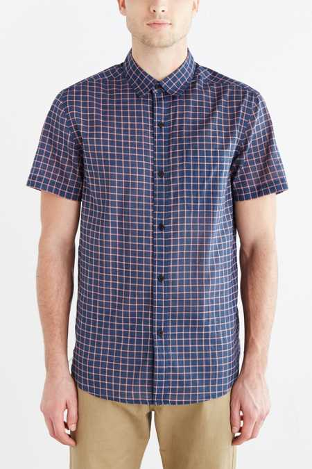 Koto Puro Checked Breezy Button-Down Shirt
