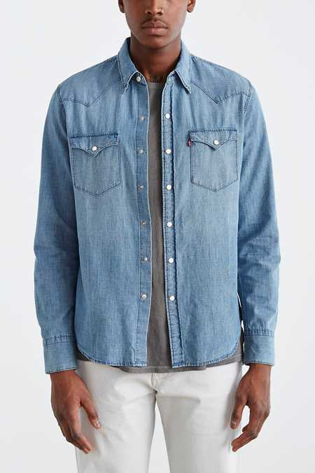 Levi's Washed Chambray Western Button-Down Shirt