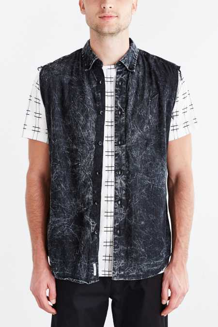 Publish Nigo Sleeveless Button-Down Shirt
