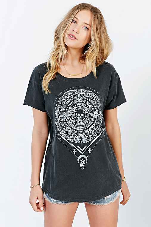 Truly Madly Deeply Medallion Tee,CHARCOAL,XS