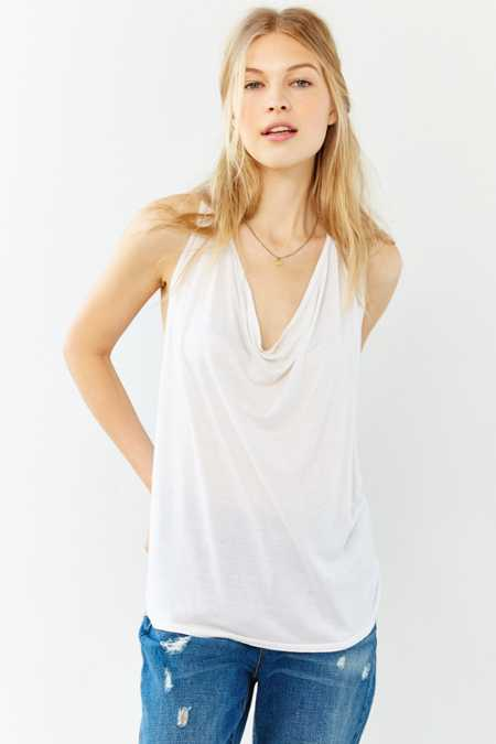 Truly Madly Deeply Cowl-Neck Tucked Tank Top
