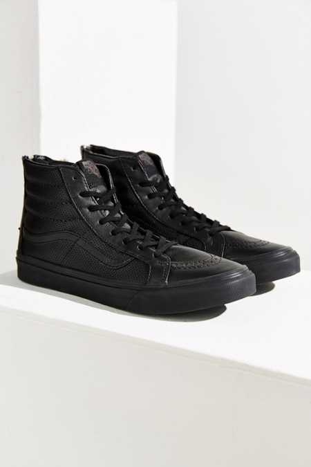 Vans Sk8-Hi Perforated Leather Zip Sneaker
