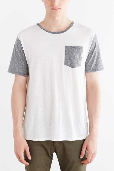 BDG Tri-Blend Colorblocked Pocket Standard-Fit Tee