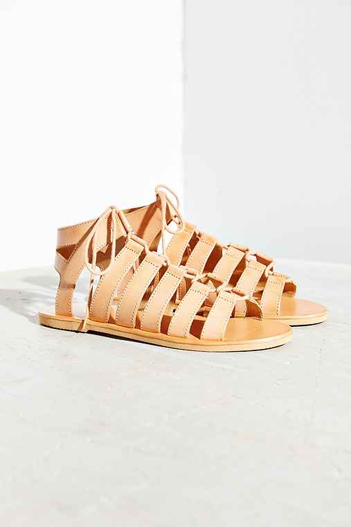 Ecote Kimi Lace-Up Sandal,NEUTRAL,9