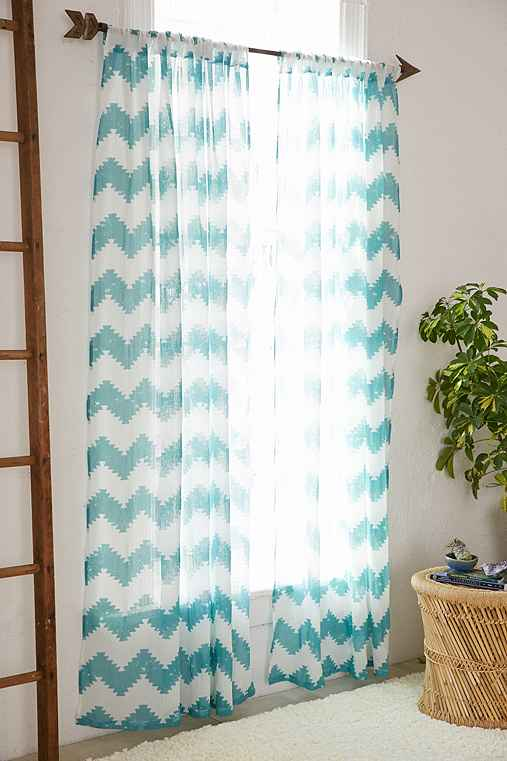Magical Thinking Geo Chevron Gauze Curtain Urban Outfitters