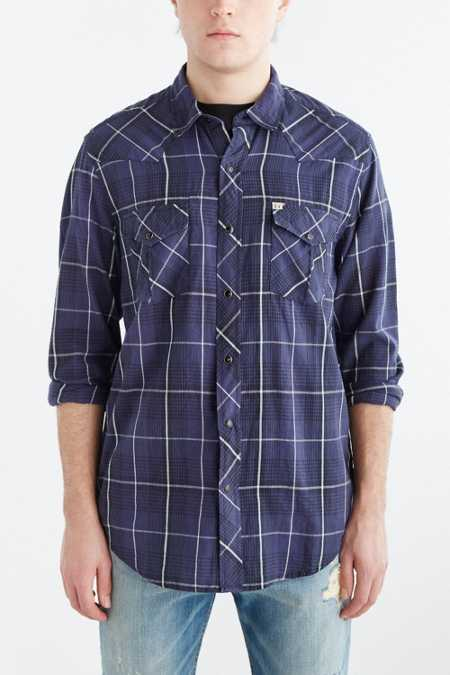 Salt Valley Western Plaid Button-Down Shirt