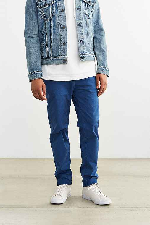Hawkings McGill Washed Skinny Stretch Chino Pant,SKY,30/32
