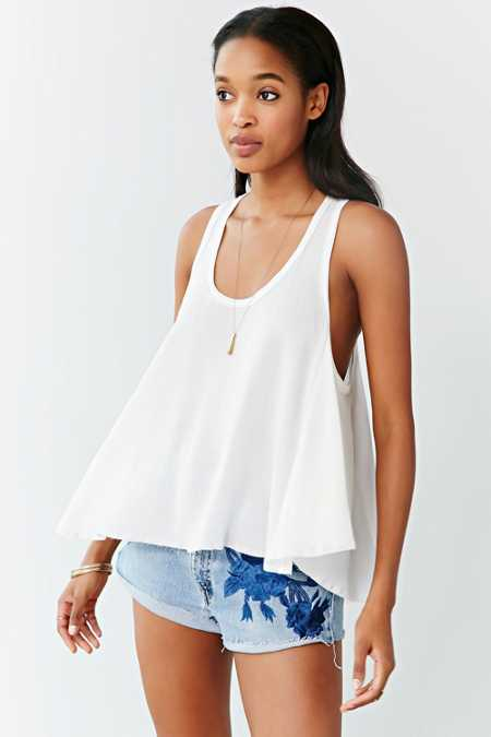 Ecote Raw-Edge Swingy Tank Top