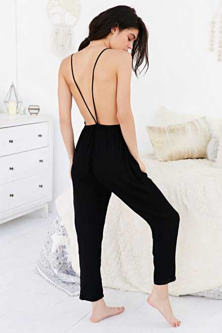 Out From Under Open-Back Jumpsuit
