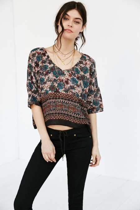 Band Of Gypsies Border Print Tee