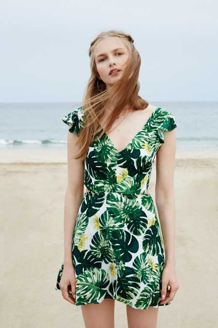 For Love & Lemons And UO Tropical Leaf Dress