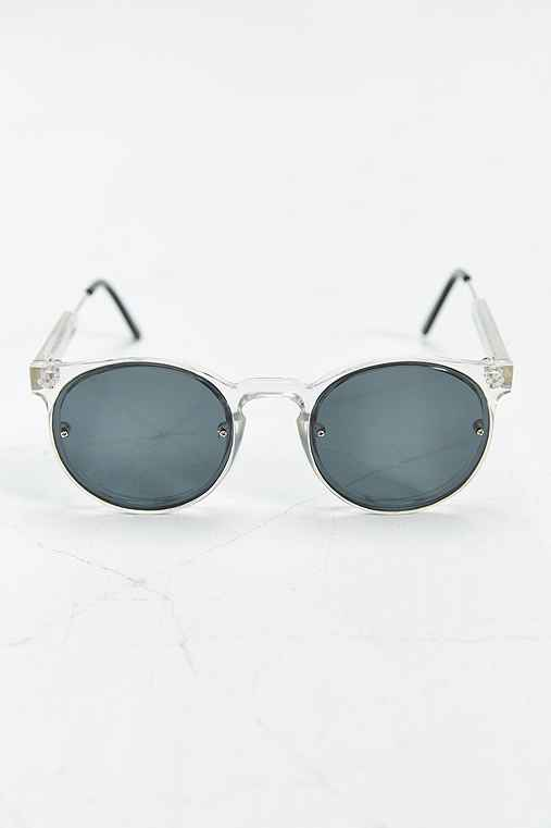 Spitfire Post Punk Round Sunglasses,CLEAR,ONE SIZE