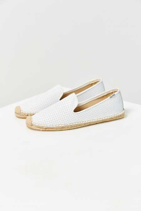 Soludos Perforated Leather Espadrille Loafer