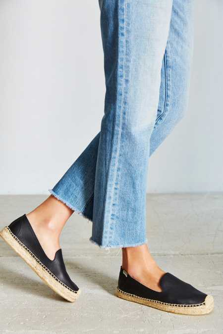 Soludos Leather Platform Espadrille Loafer