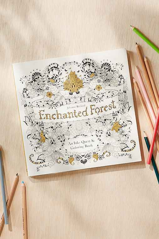 Enchanted Forest: An Inky Quest & Coloring Book By Johanna Basford,ASSORTED,ONE SIZE