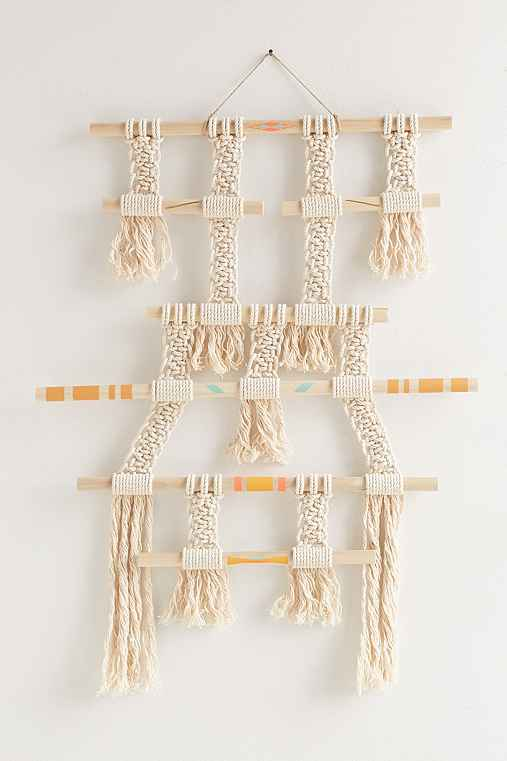 Himo Art X UO Pathway Large Wall Hanging,IVORY,L