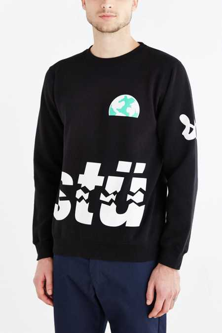 Stussy Rising Earth Crew Neck Sweatshirt