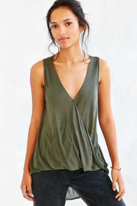 Silence + Noise Surplice Tank Top