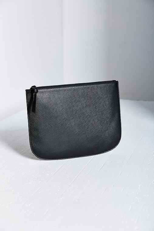 Saffiano Large Pouch,BLACK,ONE SIZE