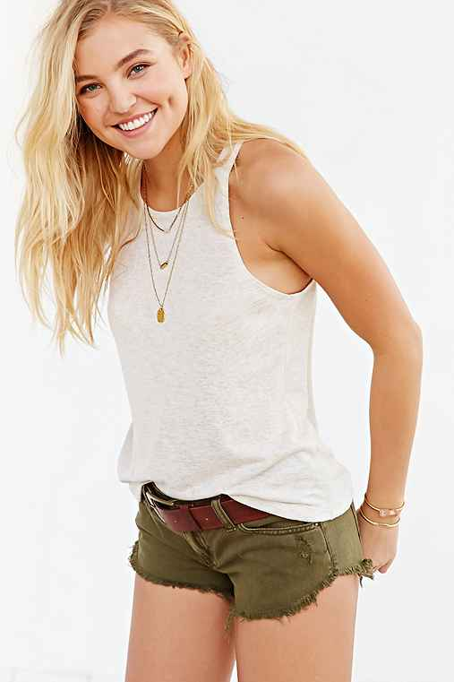 BDG Low-Rise Dolphin Short,OLIVE,31